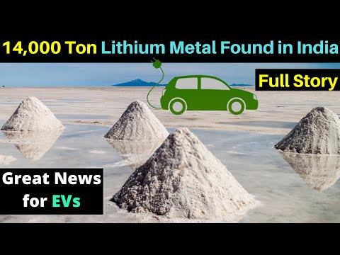 14,100 Tonnes of Lithium Reserves Found in India, Bangalore