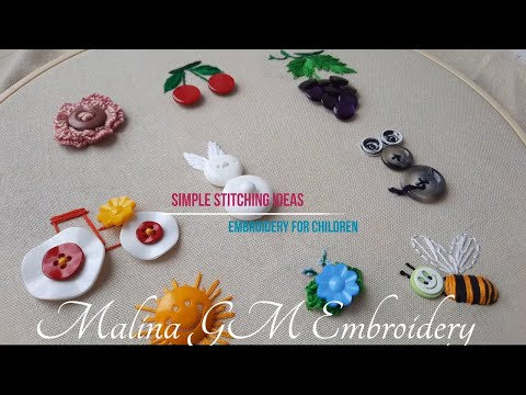 10 IDEAS for BUTTON EMBROIDERY   Simple Stitching Ideas Button