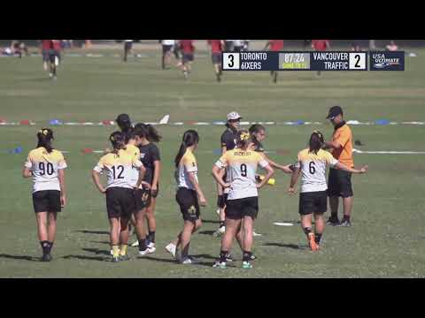 Video Thumbnail: 2018 National Championships, Women's Pool Play: Toronto 6ixers vs. Vancouver Traffic