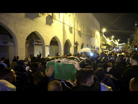 Funeral of Palestinian killed after Israeli police thought he was armed | AFP