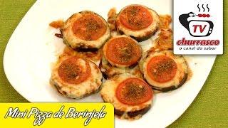 Receita de Mini Pizza de Berinjela - Tv Churrasco