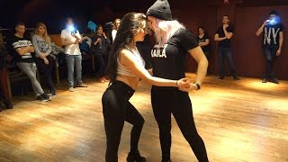 Stephanie Lucero and Vanessa Parrish Bachata Class Demo at Azucar (Buenos Aires)