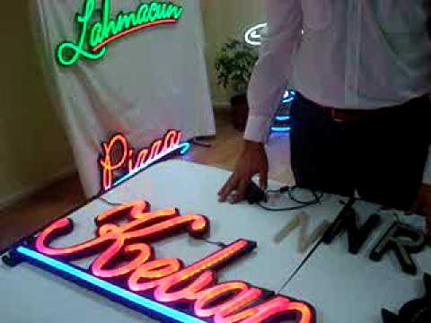 Leon Işık Tanıtım Filmi 1 ( Led Tabela ) -Neon appearance with LED light-