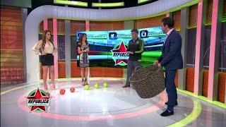Adriana Monsalve fue la ganadora del reto de meter los balones en la cesta