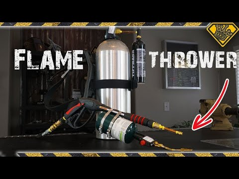 How To Build A FLAME Thrower