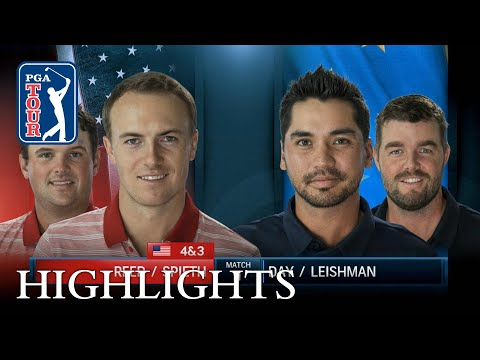 Highlights from Spieth and Reed's 4 & 3 victory over Day and Leishman