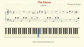 "How To Play Piano: ""The Dance""Tangerine Dream from Legend Piano Tutorial by Ramin Yousefi"