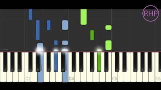 """como tocar""""Cuando Nadie Ve""""- Morat-tutorial piano fácil. cover midi"""