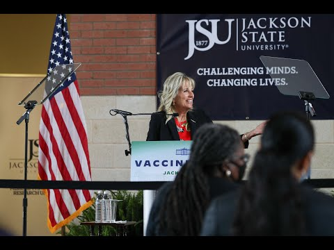 First Lady Dr. Jill Biden Speaks at Jackson State University