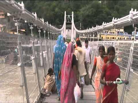 crossing the rishikesh bridge