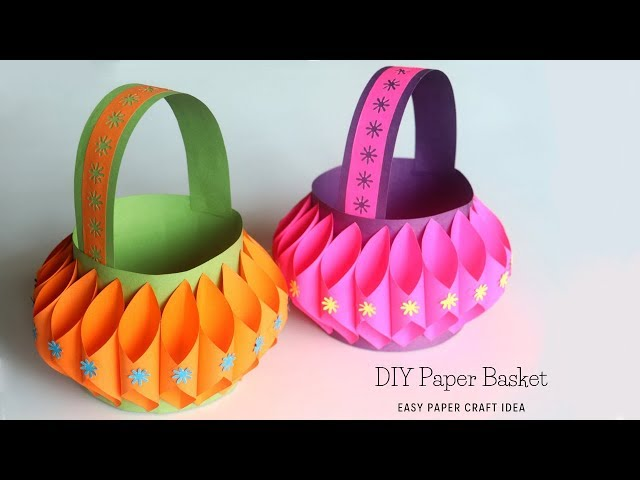 Download Thumbnail For How To Make Paper Basket Easy Paper Crafts