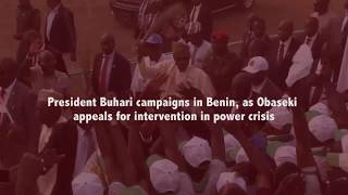 President Buhari campaigns in Benin, assures EFCC, ICPC to release FG's plans for recovered loots
