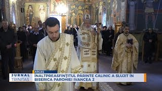 Inaltpreasfintitul Parinte Calinic a slujit in biserica Parohiei Ivancea 2