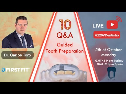 Guided applications are mainly not considered for fixed prosthodontic treatment. With the help of software technology, we are now able to prep and finish the cases without any impression. Dr. Carlos Toro, consultant dentist from FirstFit, is my guest on monday, 5th of October.