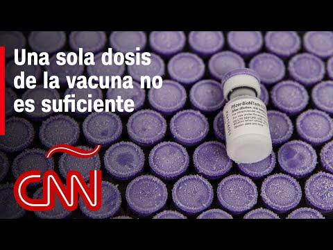 Los cientificos insisten que una dosis de la vacuna contra el covid-19 no es suficiente