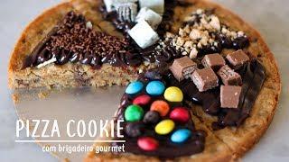 INCRÍVEL PIZZA COOKIE COM GOTAS DE CHOCOLATE | COOKIE GIGANTE |