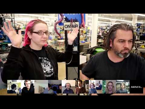 SHOW-AND-TELL LIVE VIDEO! 4/11/18 #showandtell @adafruit #adafruit