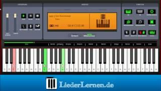 Falco - Der Kommissar - Klavier lernen - Musiknoten - Akkorde