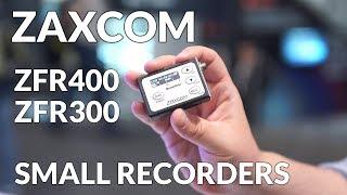 Zaxcom ZFR300 and ZFR400 Portable Small Audio Recorders