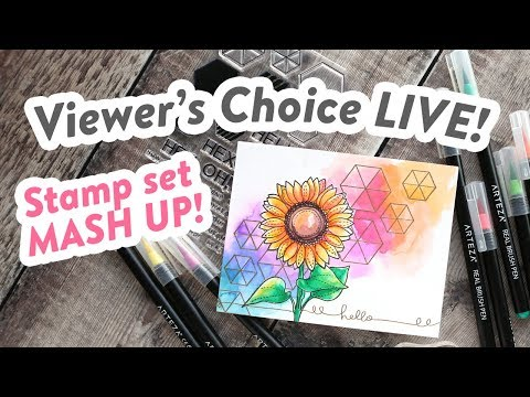 Viewer's Choice LIVE REPLAY – Stamp set MASH UP!