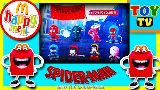 SPIDER MAN INTO THE SPIDERVERSE | HAPPY MEAL | MCDONALDS | TOYTV|  TOY TV | 2019