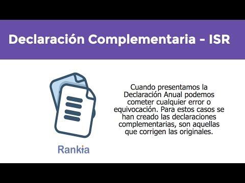 Consulta el procedimiento para presentar la declaración complementaria del ISR.