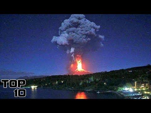 Eruptii ale vulcanilor filmate live