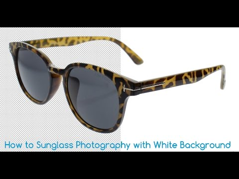 How to Sunglasses Photography White Background