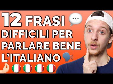 12 Frasi Difficili Che Ti Aiuteranno a Parlare l'Italiano (Sub ITA)   Imparare l'Italiano