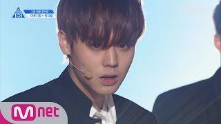 PRODUCE 101 season2 [단독/직캠] 일대일아이컨택ㅣ박지훈 - BTS ♬상남자_1조 @그룹배틀 170421 EP.3