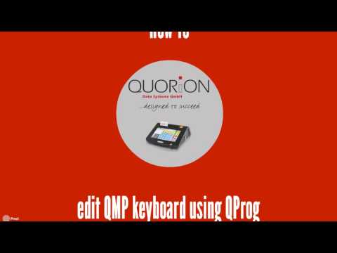 POS Software Tutorial - QUORiON How to Edit QMP Keyboard
