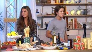 Allt går inte som en dans i köket med syskonen Wahlgren Ingrosso  - Nyhetsmorgon (TV4)