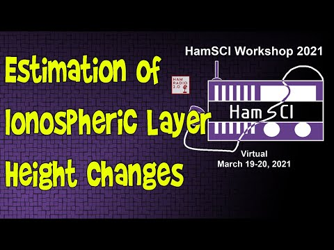 HamSci 2021: Estimation of Ionospheric Layer Height Changes From Doppler Frequency