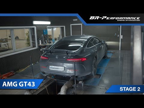 Mercedes AMG GT43 with SUPERSPRINT Downpipe / Stage 2 By BR-Performance
