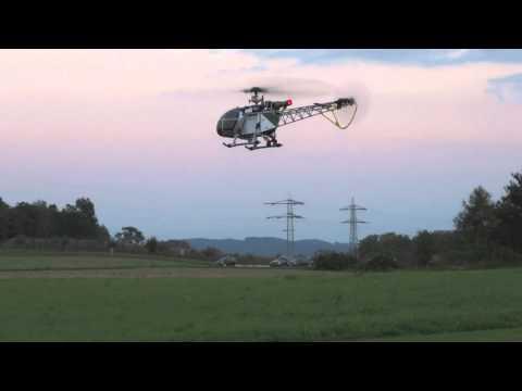 HD RC Walkera LAMA Flybarless 3 Blatt Helikopter