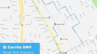 El Cerrito DMV Road Test Route - powered by YoGov
