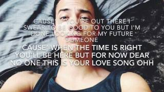 Leroy Sanchez - Dear No One Cover Tori Kelly Lyrics