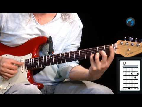 Aula Técnica para Iniciantes - C.A.G.E.D - Shape D (aula de guitarra)