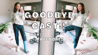 Saying goodbye to my cast | Leg cast removal vlog | My leg cast is finally off! | Leg injury diaries