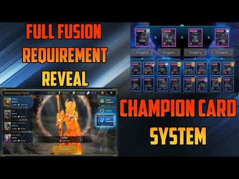 *New* Champion Card System + Full Fusion Requirements I Raid Shadow Legends