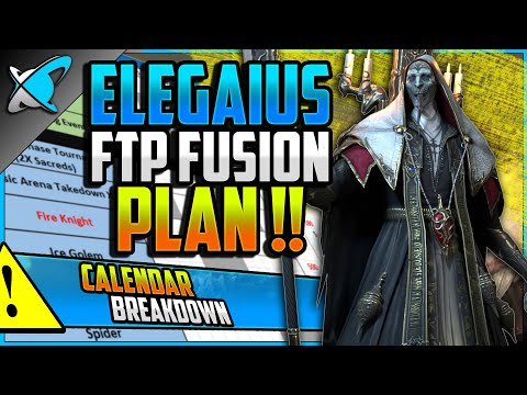 "Elegaius ""FREE TO PLAY"" Fusion Plan... Now HARDER? | Full Calendar Breakdown | RAID: Shadow Legends"