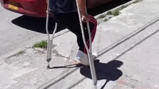 Sprain crutching