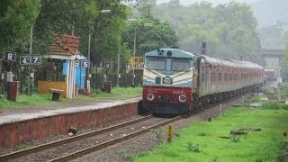 Bombay to Goa! Konkan Railways Compilation; TVC Rajdhani Monsoon Magic width=