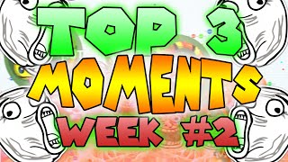 Agar.io - TOP 3 Moments of the WEEK! #2 (Submit your own moments)