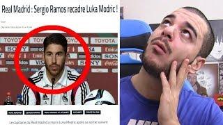 ET REBELOTE...  (MODRIC se lâche en interview, RAMOS le recadre..)