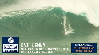 Kai Lenny at Jaws - 2017 TAG Heuer XXL Biggest Wave Nominee - WSL Big Wave Awards