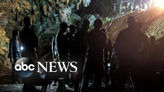 New emotional footage shows boys being saved from Thai cave width=