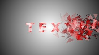 After Effects Tutorial: Particles Text Effect width=