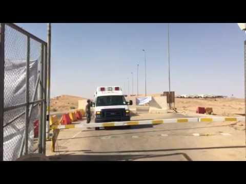 وصول المفارز الطبية التابعة لدائرة صحة الانبار الى النخيب ومنفذ عرعر الحدودي لتقديم الخدمات الصحية .