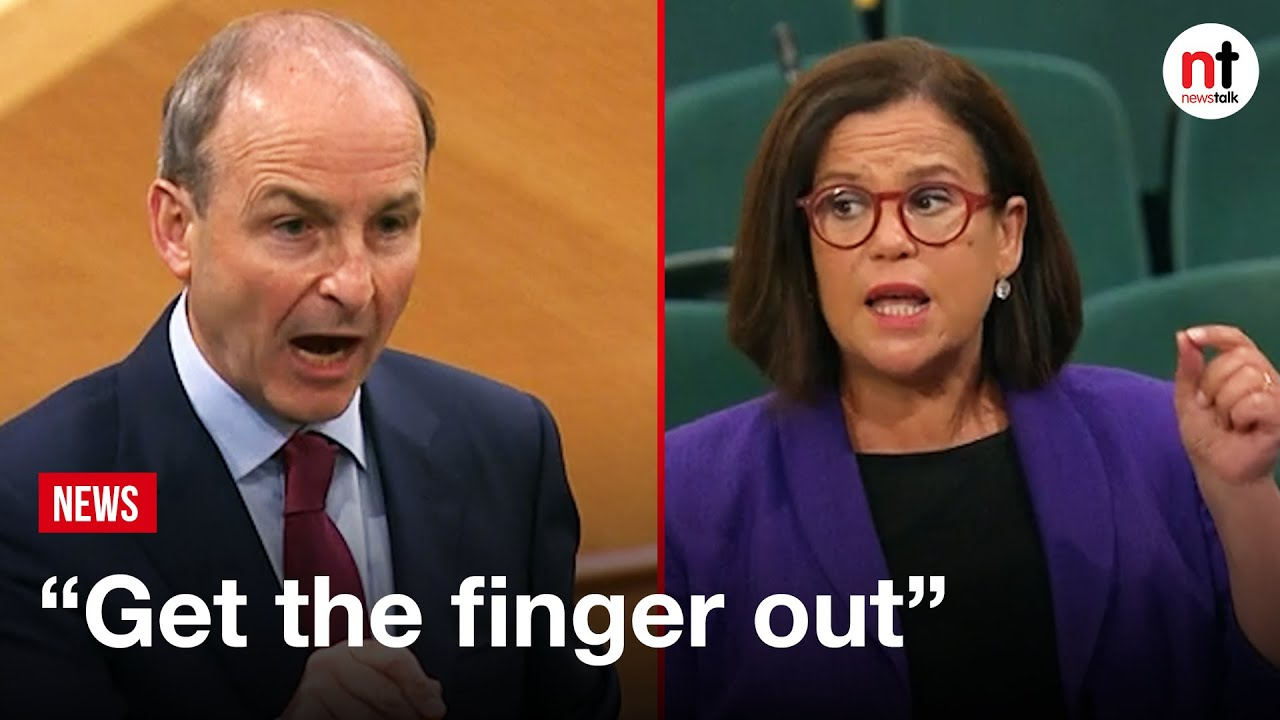 """""""It's Hypocrisy on a grand scale,"""" Micheál Martin and Mary Lou McDonald Clash on Housing"""
